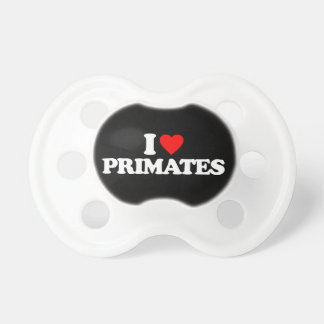 I LOVE PRIMATES BABY PACIFIERS