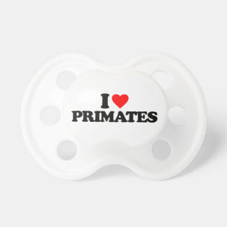 I LOVE PRIMATES PACIFIERS