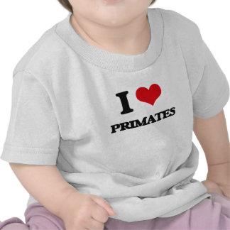 I Love Primates Shirts