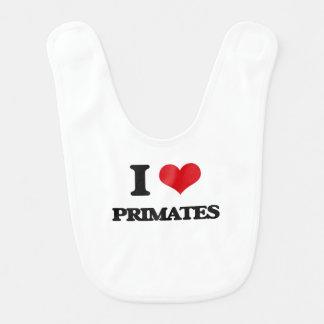 I love Primates Bib