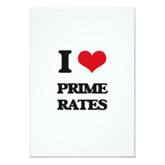 "I Love Prime Rates 3.5"" X 5"" Invitation Card"