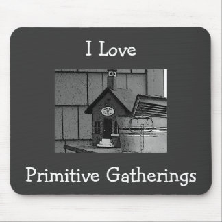 I Love, Primitive Gatherings Mousepad
