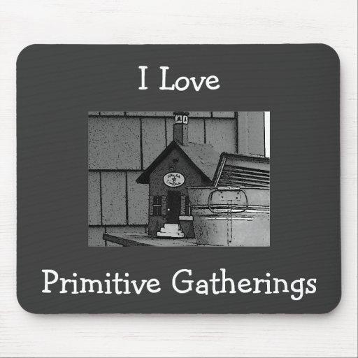 I Love, Primitive Gatherings Mousepad