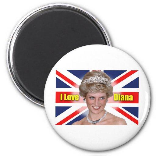 I Love Princess Diana Fridge Magnets