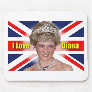 I Love Princess Diana Mouse Pads