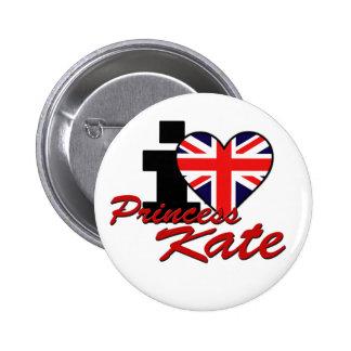 I Love Princess Kate 6 Cm Round Badge