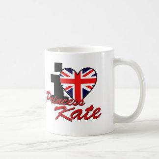 I Love Princess Kate Basic White Mug