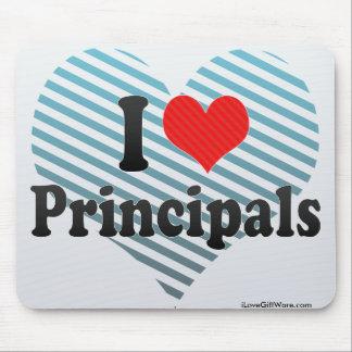 I Love Principals Mousepads