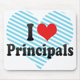 I Love Principals Mouse Pad
