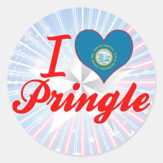 I Love Pringle, South Dakota Round Sticker