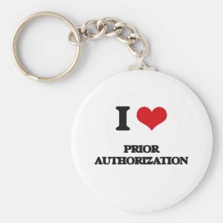 I Love Prior Authorization Basic Round Button Keychain