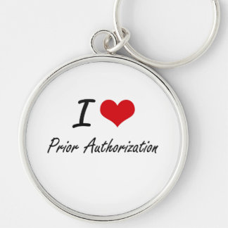 I Love Prior Authorization Silver-Colored Round Key Ring