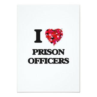 I love Prison Officers 13 Cm X 18 Cm Invitation Card