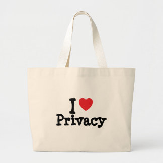 I love Privacy heart custom personalized Bag
