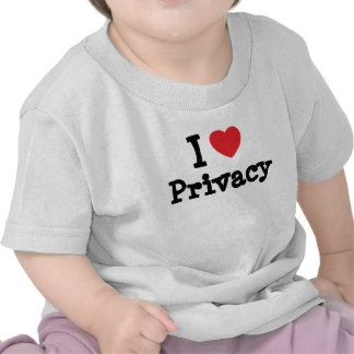 I love Privacy heart custom personalized Tee Shirt