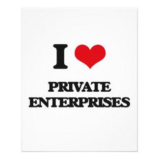 I Love Private Enterprises Personalized Flyer