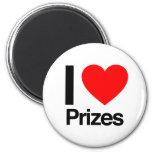 i love prizes refrigerator magnet