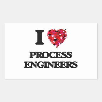 I love Process Engineers Rectangular Sticker