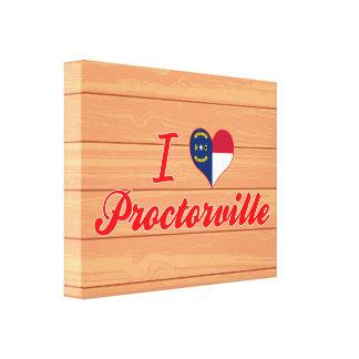 I Love Proctorville, North Carolina Stretched Canvas Print