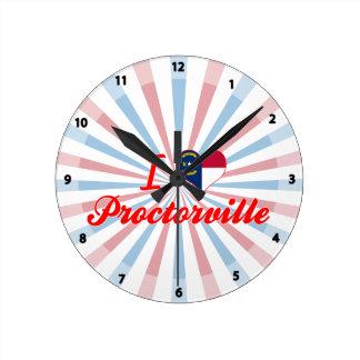 I Love Proctorville, North Carolina Round Wallclock