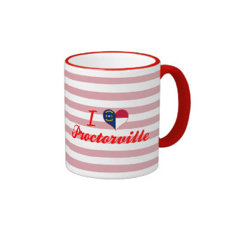 I Love Proctorville, North Carolina Ringer Mug