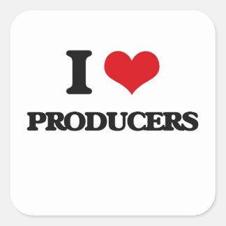 I Love Producers Square Sticker