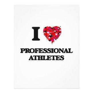 I love Professional Athletes 21.5 Cm X 28 Cm Flyer