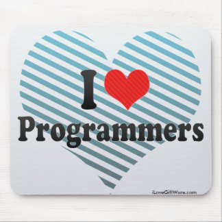 I Love Programmers Mouse Pad