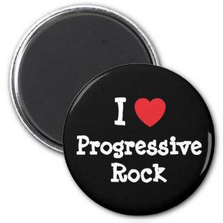I love Progressive Rock heart custom personalized Refrigerator Magnet