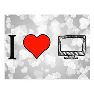 I Love Projector Postcard