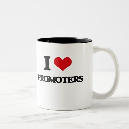 I Love Promoters Two-Tone Coffee Mug