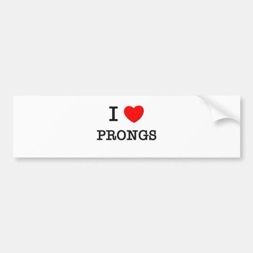 I Love Prongs Bumper Stickers