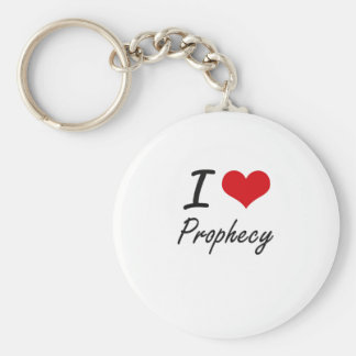 I Love Prophecy Basic Round Button Key Ring