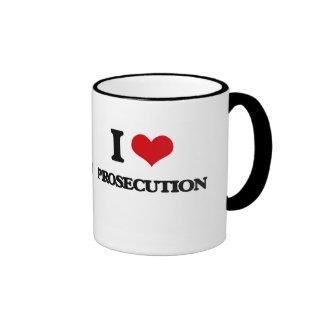I Love Prosecution Ringer Mug