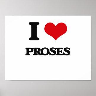 I Love Proses Poster