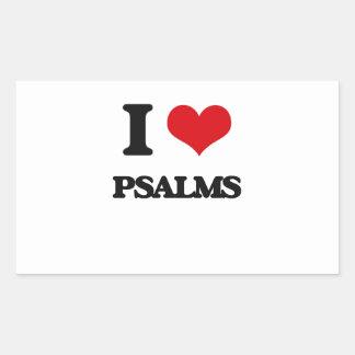 I Love Psalms Rectangular Sticker