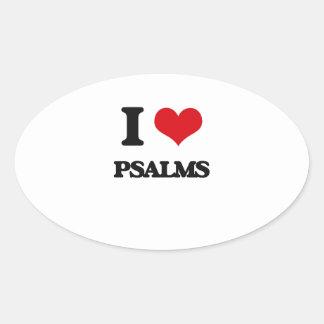I Love Psalms Oval Sticker
