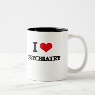 I Love Psychiatry Two-Tone Mug