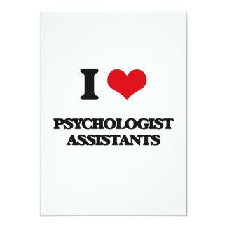 "I love Psychologist Assistants 5"" X 7"" Invitation Card"