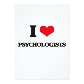 "I love Psychologists 5"" X 7"" Invitation Card"
