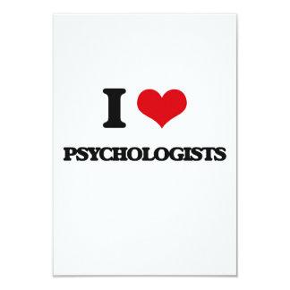 "I Love Psychologists 3.5"" X 5"" Invitation Card"