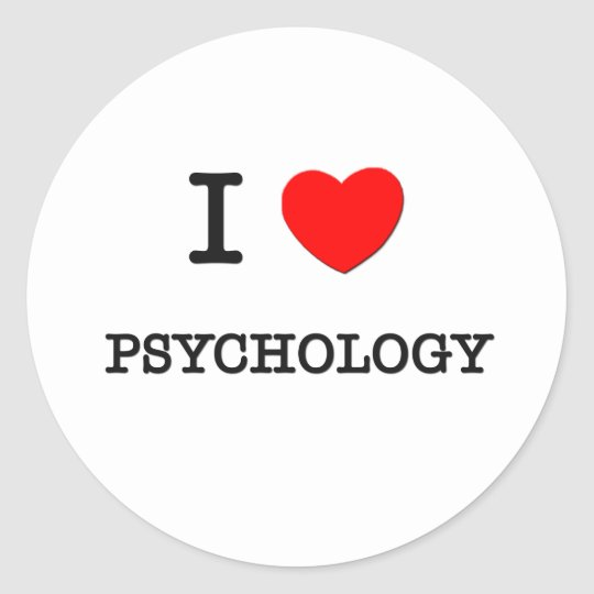 I Love PSYCHOLOGY Round Sticker