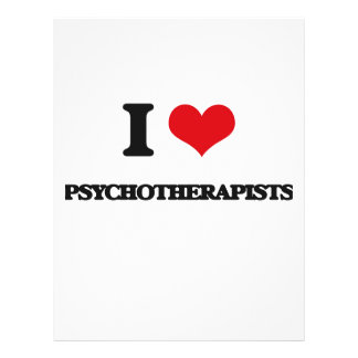 I love Psychotherapists Personalized Flyer