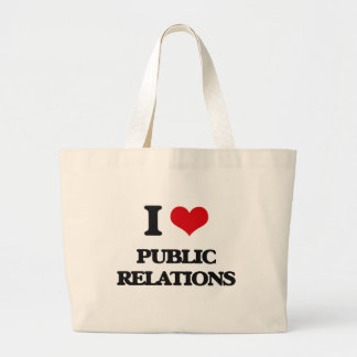 I Love Public Relations Tote Bags