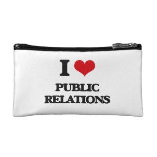 I Love Public Relations Makeup Bags