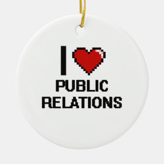 I Love Public Relations Digital Design Christmas Ornament