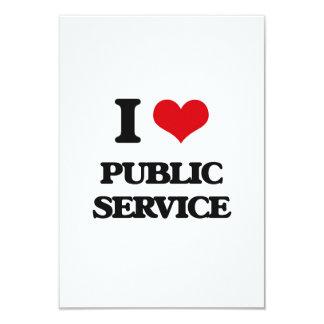 """I Love Public Service 3.5"""" X 5"""" Invitation Card"""