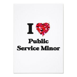 I Love Public Service Minor 13 Cm X 18 Cm Invitation Card