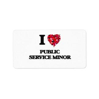 I Love Public Service Minor Address Label