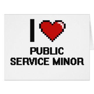 I Love Public Service Minor Digital Design Big Greeting Card
